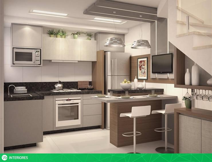 vista 01: Cozinhas  por studio vtx,Moderno