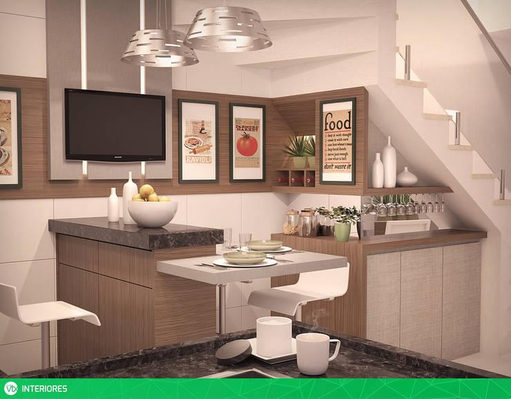 vista o2: Cozinhas  por studio vtx,Moderno