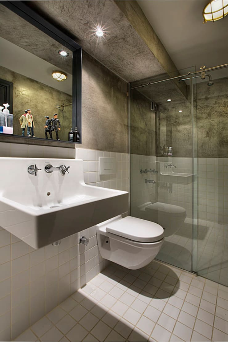 Udesign Architecture – Levent Villa:  tarz Banyo, Endüstriyel
