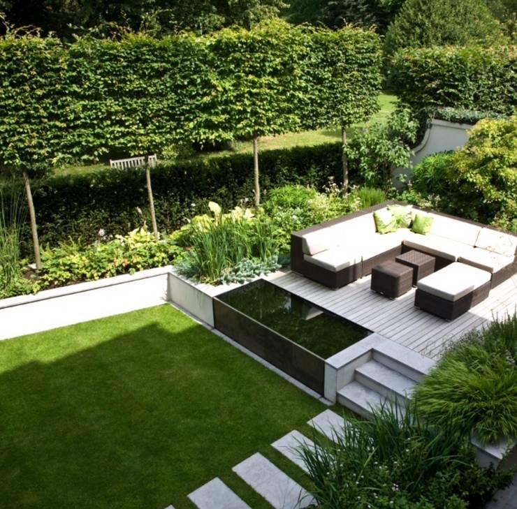 Aus dem Garten wird eine Oase :  Terrasse von Paul Marie Creation