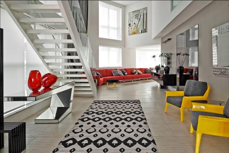 Cobertura Gutierrez: Salas de estar modernas por Cassio Gontijo Arquitetura e Decoração