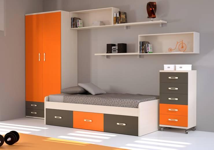 JUVENIL URBAN 07: Habitaciones infantiles de estilo  de GALDIS MUEBLES SL