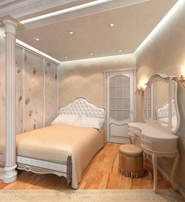 Спальня-гардеробная. Витраж: Спальни в . Автор – Aledoconcept, Классический