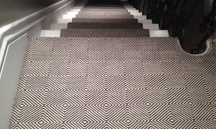 Flatweaves ~ Diamond Stair runner:  Corridor, hallway & stairs by Cavalcanti