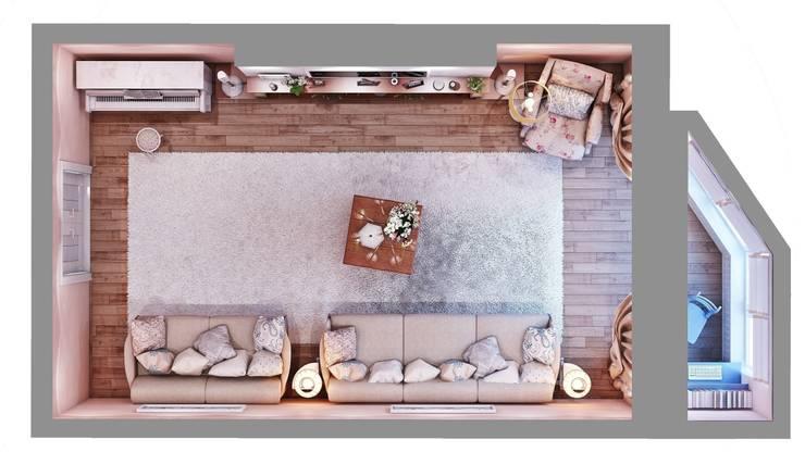 Квартира. Озерки.: Гостиная в . Автор – Студия дизайна Elena-art, Классический