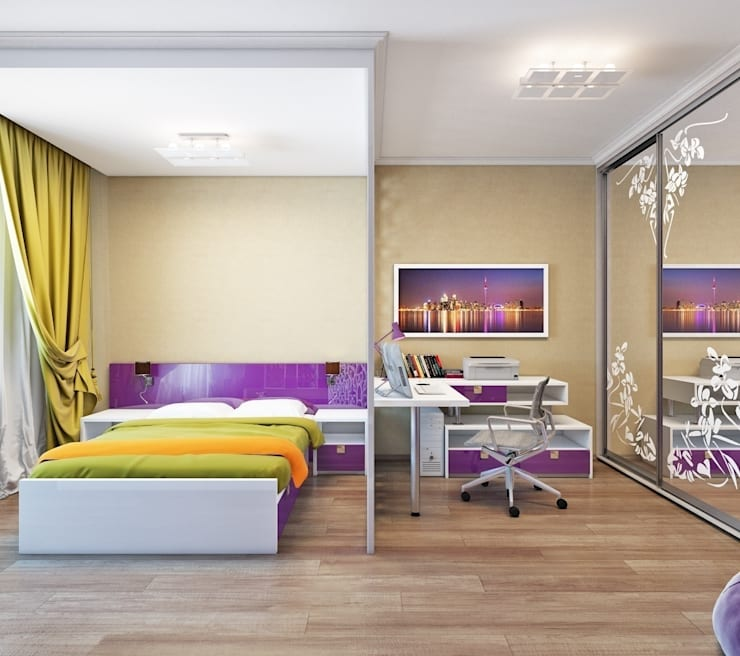 Квартира. Озерки.: Детские комнаты в . Автор – Студия дизайна Elena-art