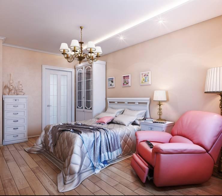 Квартира. Озерки.: Спальни в . Автор – Студия дизайна Elena-art, Классический