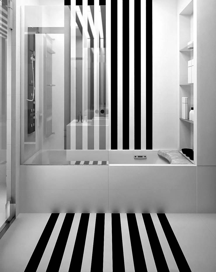 Квартира в ЖК Антарес. Екатеринбург. : Ванные комнаты в . Автор – Dmitriy Khanin