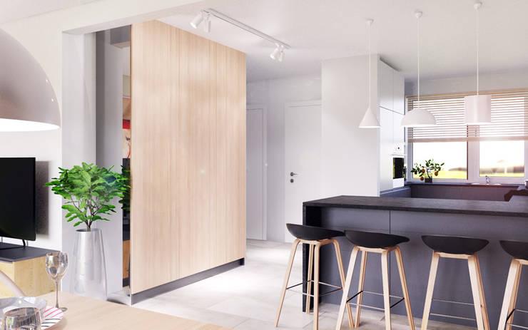 D&L mieszkanie: styl , w kategorii Korytarz, przedpokój zaprojektowany przez hanczar studio