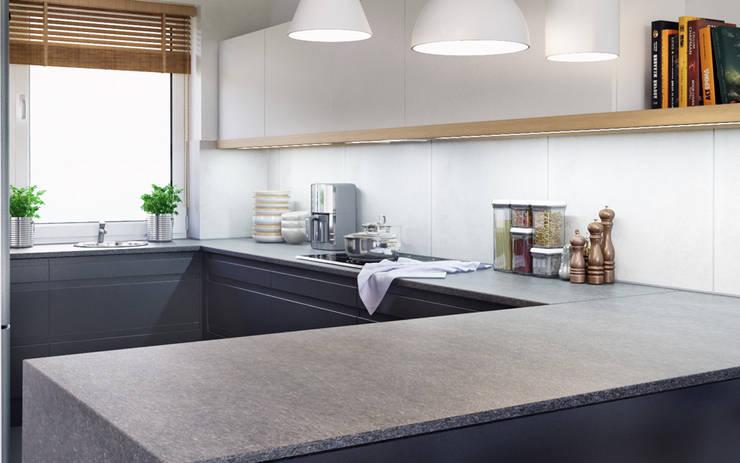 D&L mieszkanie: styl , w kategorii Kuchnia zaprojektowany przez hanczar studio