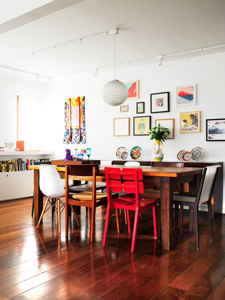 Encantado Flat: Salas de jantar  por Red Studio,Moderno