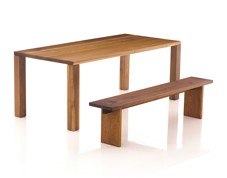 Basic Table & Bench: Moon studio의  다이닝 룸