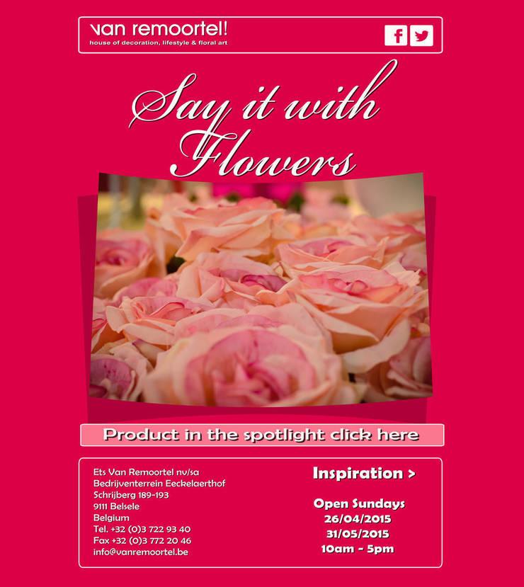 Say it with flowers:   door Groothandel in decoratie en lifestyle artikelen, Landelijk
