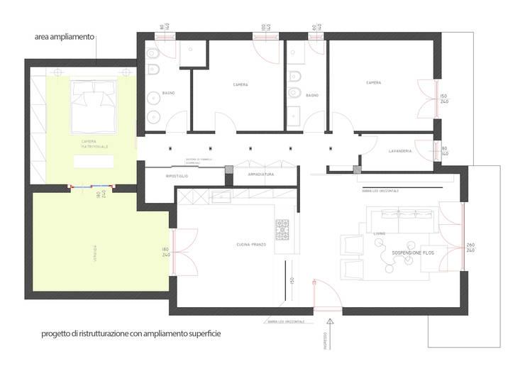 planimetria del progetto di ristrutturazione:  in stile  di studio radicediuno