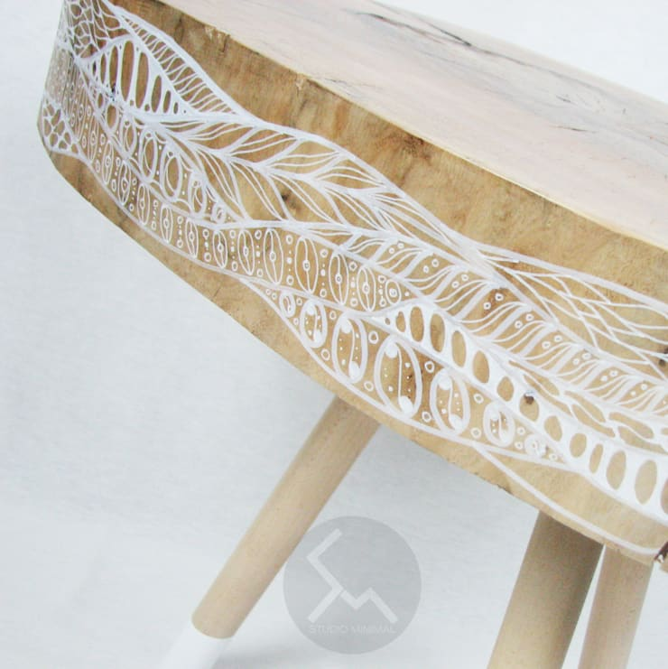Ława No.11 Flow: styl , w kategorii  zaprojektowany przez Studio Minimal Meble,Minimalistyczny