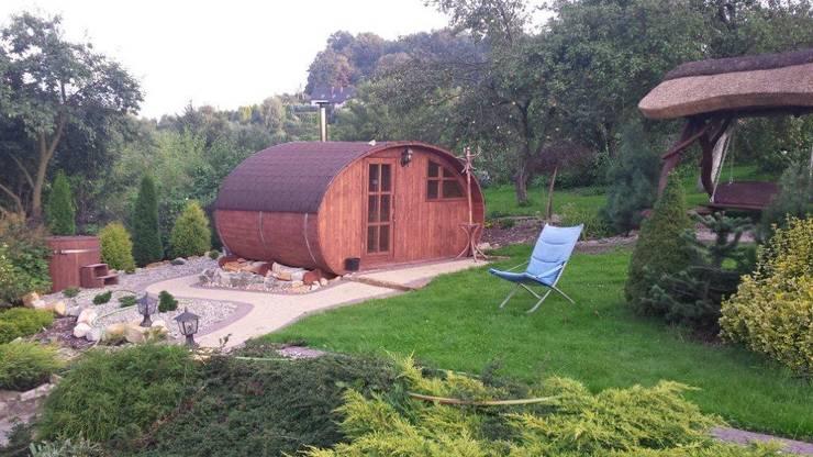 Sauna ogrodowa: styl , w kategorii Ogród zaprojektowany przez Lifepolska Iwona Olejnik