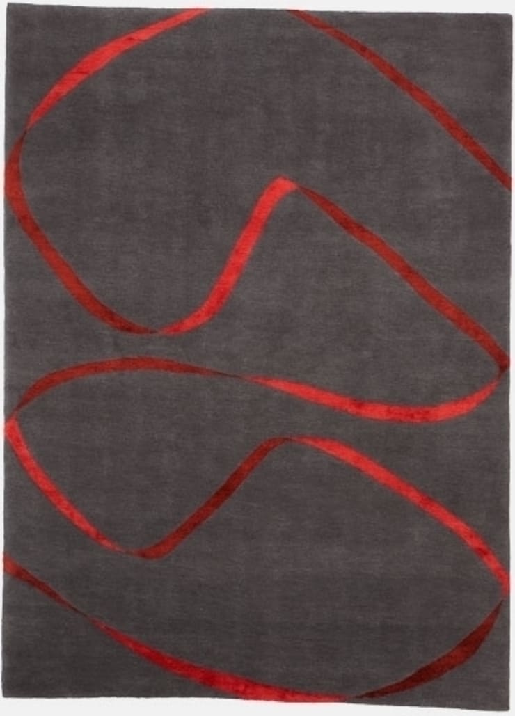 Deirdre Dyson STREAMER hand knotted wool and silk rug: modern  by Deirdre Dyson LLP, Modern
