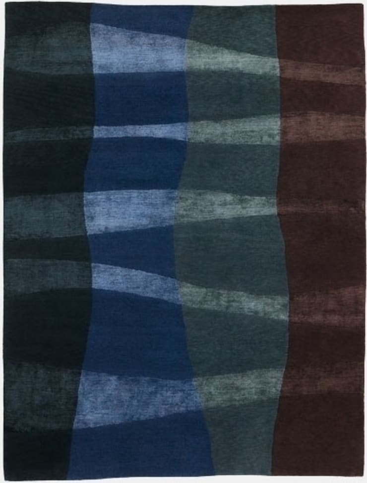 Deirdre Dyson NAUTICAL hand knotted wool and silk rug: modern  by Deirdre Dyson LLP, Modern