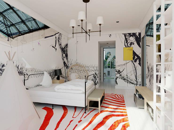 Projekty,  Pokój dziecięcy zaprojektowane przez Валерия Лазарева - архитектор, дизайнер интерьера