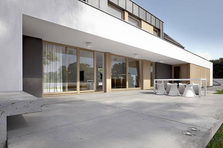 Dom: styl , w kategorii Taras zaprojektowany przez Konrad Idaszewski Architekt