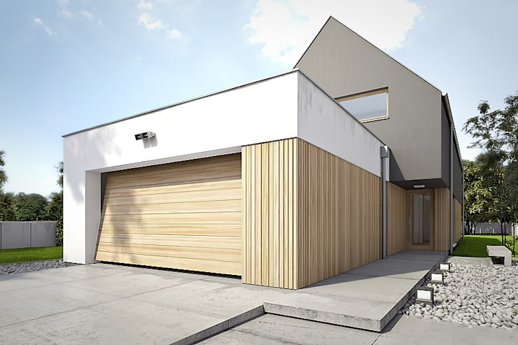 Konrad Idaszewski Architekt: modern tarz Garaj / Hangar