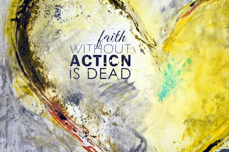 Faith without action is dead: Paredes y pisos de estilo  por Galeria Ivan Guaderrama