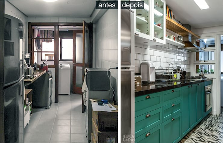 Cozinha Verde: Cozinhas  por Red Studio,