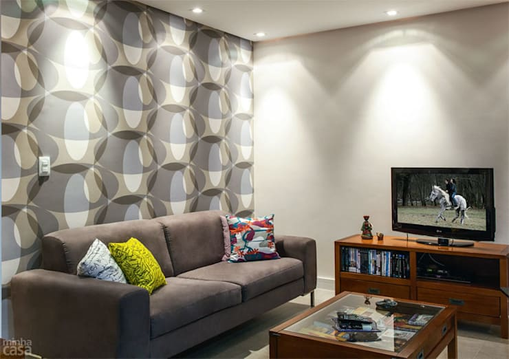 Cozinha Verde: Salas de estar  por Red Studio,