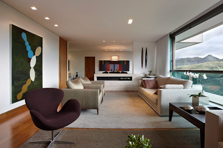 Sala de Estar: Salas de estar  por Lage Caporali Arquitetas Associadas