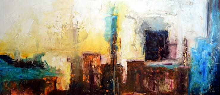 Obras Abstractas: Comedor de estilo  por Galeria Ivan Guaderrama