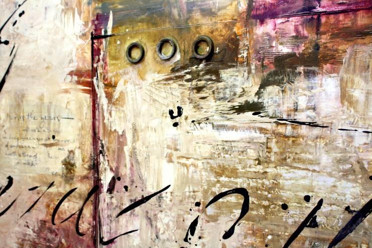 Obras Abstractas: Vestíbulos, pasillos y escaleras de estilo  por Galeria Ivan Guaderrama