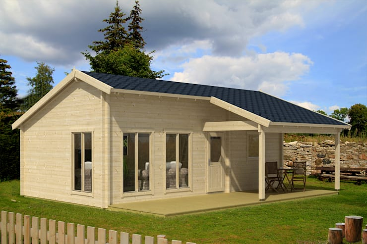 Projekty, nowoczesne Domy zaprojektowane przez Gartenhaus2000 GmbH