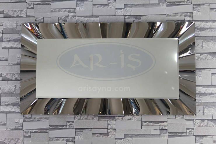 ARİŞ AYNA – Dikdörtgen Modern Dalgalı Ariş Ayna:  tarz İç Dekorasyon
