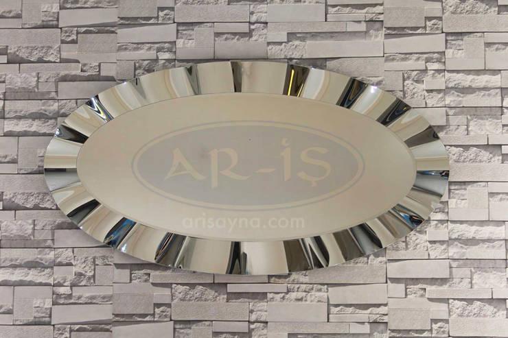 ARİŞ AYNA – Oval Modern Dalgalı Ariş Ayna:  tarz İç Dekorasyon
