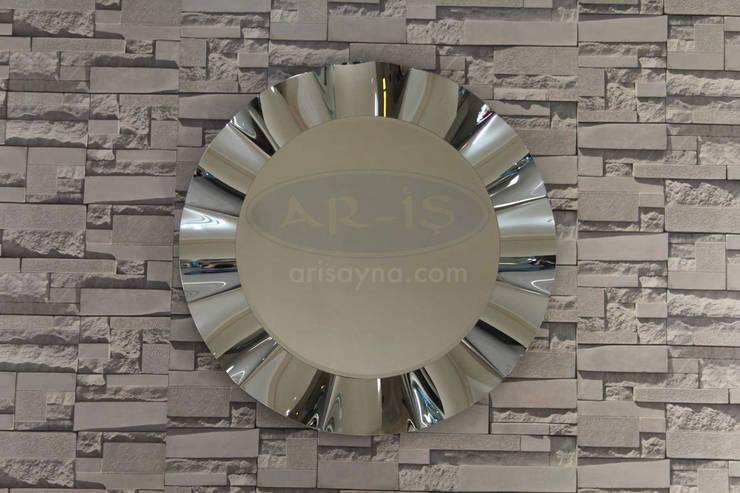 ARİŞ AYNA – Yuvarlak Modern Dalgalı Ariş Ayna:  tarz İç Dekorasyon