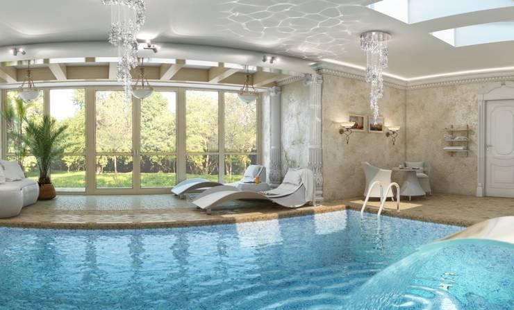 Спа зона в частном доме.: Бассейн в . Автор – Студия дизайна Elena-art,