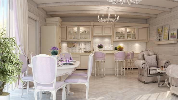 Спа зона в частном доме.: Кухни в . Автор – Студия дизайна Elena-art,