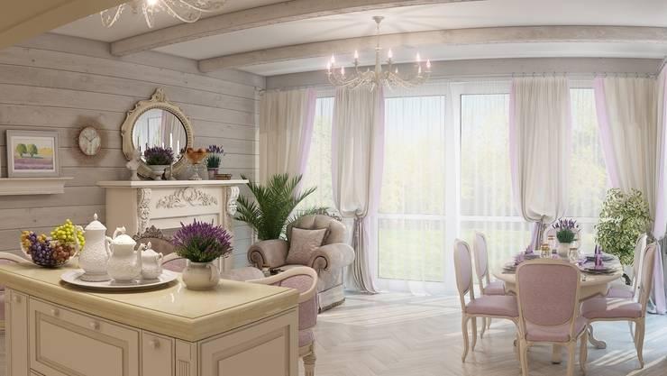 Спа зона в частном доме.: Гостиная в . Автор – Студия дизайна Elena-art,