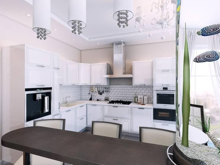 Квартира в  Озерках.: Кухни в . Автор – Студия дизайна Elena-art,