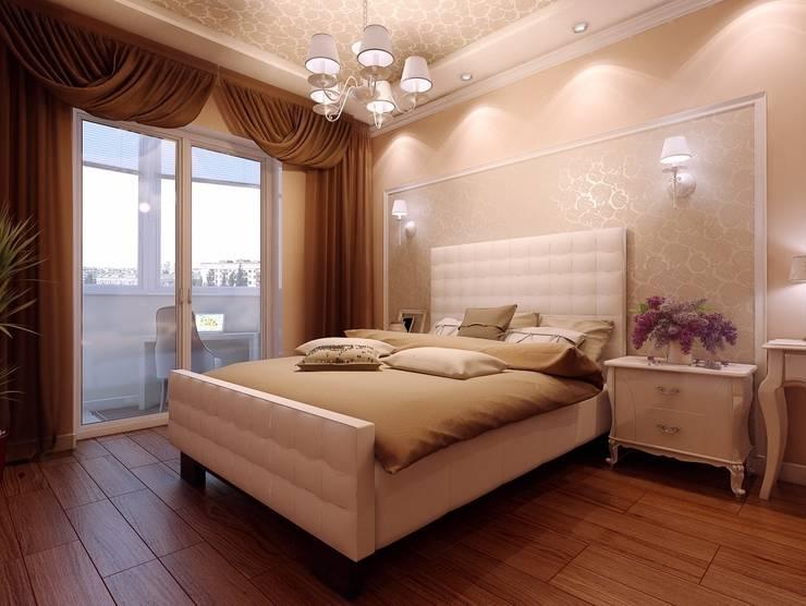 Квартира в  Озерках.: Спальни в . Автор – Студия дизайна Elena-art,
