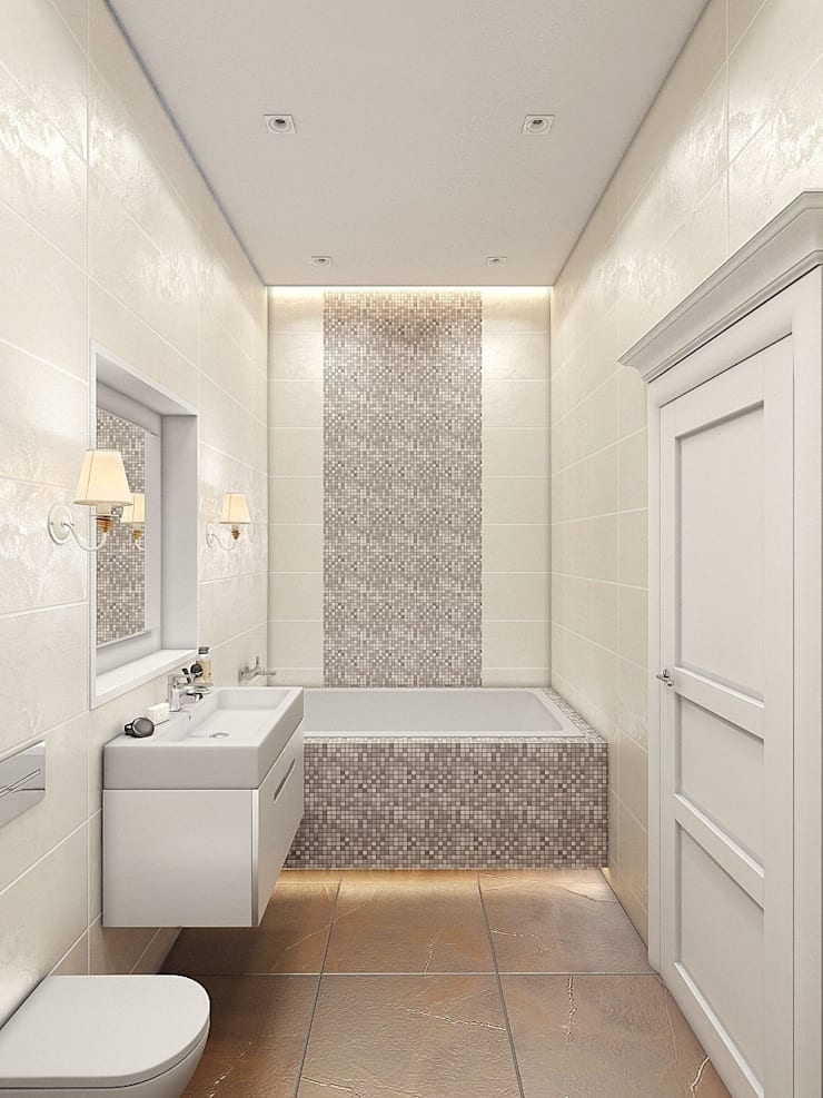 Квартира в  Озерках.: Ванные комнаты в . Автор – Студия дизайна Elena-art,