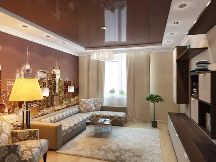 Квартира для молодой пары.: Гостиная в . Автор – Студия дизайна Elena-art