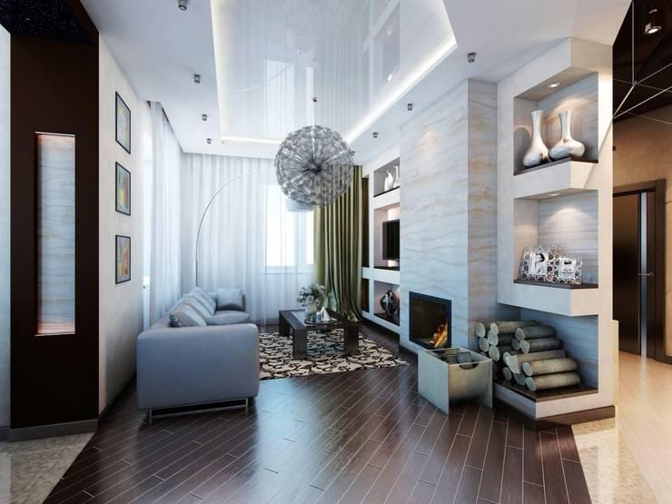 Загородный дом.: Гостиная в . Автор – Студия дизайна Elena-art