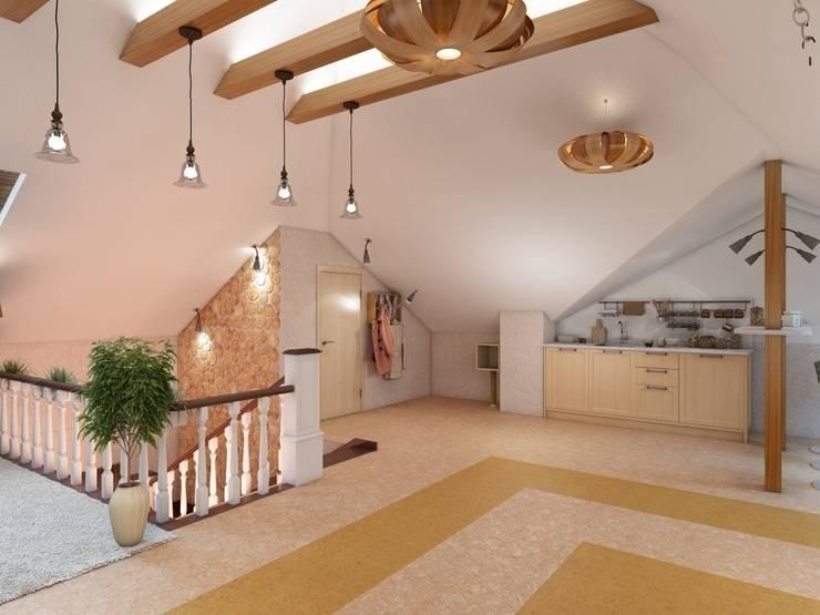Загородный дом.: Tерраса в . Автор – Студия дизайна Elena-art