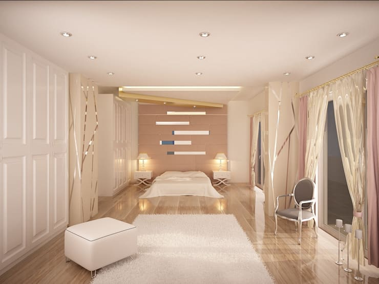 Sinar İç mimarlık – Ebeveyn Yatak Odası:  tarz Yatak Odası