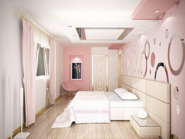 Sinar İç mimarlık – Misafir Yatak Odası ve Banyosu:  tarz Yatak Odası