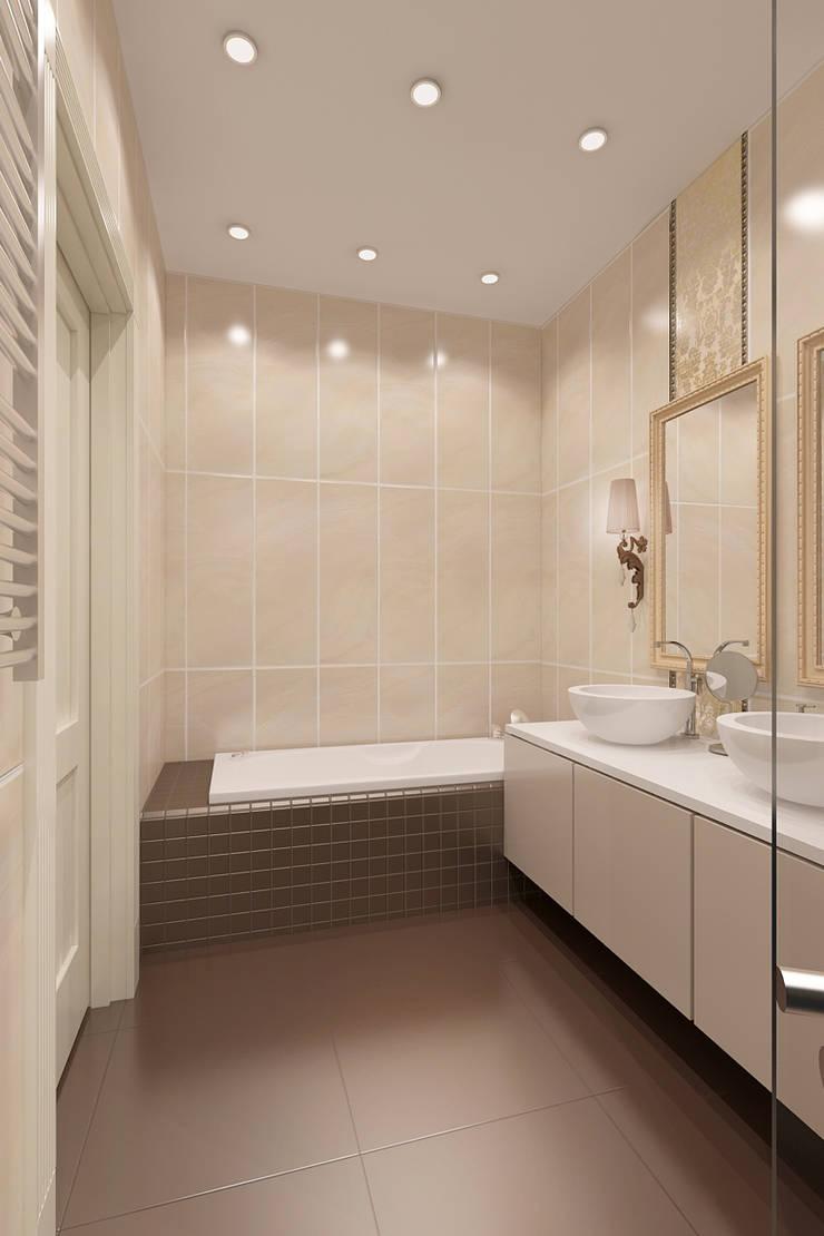 квартира на Гарибальди: Ванные комнаты в . Автор – ООО 'Студио-ТА'