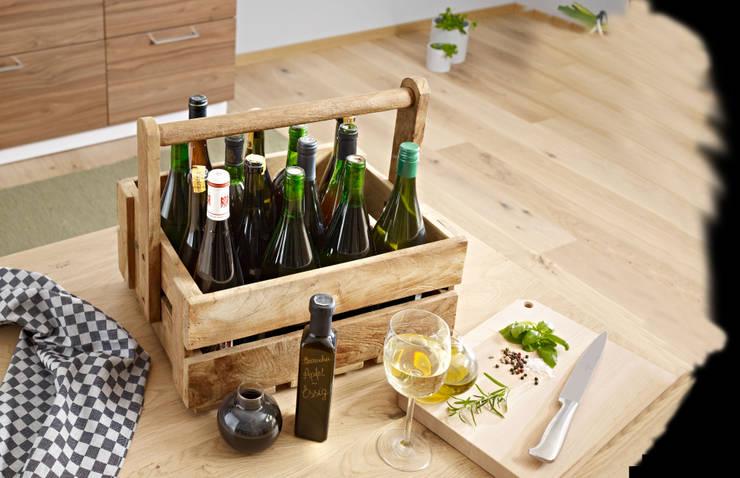 Jan Kurtz - Kiste Wine mit Weinflaschen befüllt:  Balkon, Veranda & Terrasse von Connox