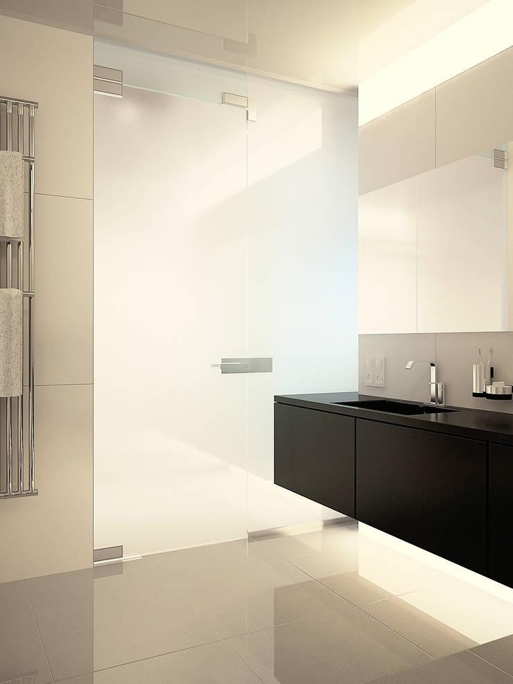 Квартира в ЖК Московский: Ванные комнаты в . Автор – Dmitriy Khanin