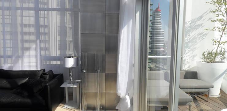 Torre Aura Altitud: Recámaras de estilo  por STUDIO ALMEIDA DESIGN